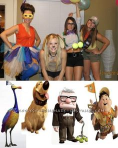 How cute! The characters from Up! This website is the Pinterest of homemade costumes!