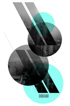 graphic design: circles and stripes on chicago poster series