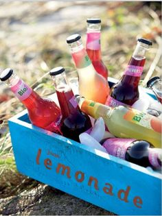 ice cold fruity drinks on a hot summer's day  (non alcoholic please)