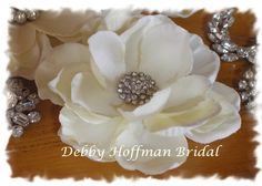 Ivory Bridal Hair Flower Hair Clip Hair Comb by DebbyHoffmanBridal, $28.00