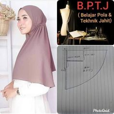 Turban Hijab, Hijab Niqab, Mode Hijab, Niqab Fashion, Muslim Fashion, Fashion Outfits, Dress Sewing Patterns, Clothing Patterns, Dress Muslim Modern
