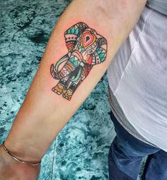 99 Powerful Elephant Tattoo Designs (with Meaning) Elephant Tattoo Meaning, Elephant Tattoo Design, Elephant Tattoos, Animal Tattoos, Hand Tattoos, Body Art Tattoos, New Tattoos, Sleeve Tattoos, Symbolic Tattoos