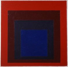 Josef Albers (American, German-born, 1888-1976): Silent Adobe. Homage to the Square; 1954.