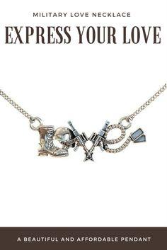 Military Love Necklace - Custom Made Pendant