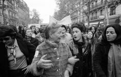 Simone de Beauvoir and Sylvie Le Bon de Beauvoir during a demonstration organized by the Mouvement de Libération des Femmes (MLF) in favor of free and costless abortion and contraception. Paris, 1971. We need feminism because reproductive rights are not yet totally guaranteed in any country.