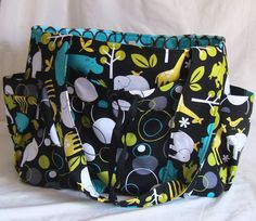 Diaper Bag  Large  Zoology by WeaversHomestead on Etsy, $89.00