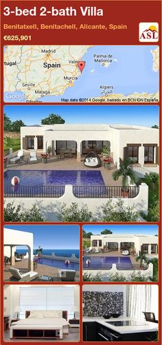 3-bed 2-bath Villa in Benitatxell, Benitachell, Alicante, Spain ►€625,901 #PropertyForSaleInSpain