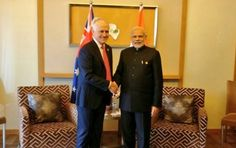 Discussing India-Australia ties with PM Turnbull