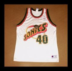 44623084 Reversible Shawn Kemp jersey from guest host Mr. Original NBA champion  Shawn Kemp jersey, from the 1989 Sonics team he started with. VidBid ·  Throwback ...