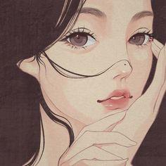 Nguồn: 一颗猫头_ Anime Drawings Sketches, Cute Drawings, Aesthetic Art, Aesthetic Anime, Cartoon Girl Drawing, Japanese Cartoon, Cartoon Art Styles, Digital Art Girl, Anime Art Girl