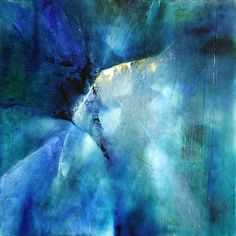 """Annette Schmucker, """"Komposition in blau"""" With a click on 'Send as art card', you can send this art work to your friends - for free!"""