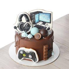 Cake Truffles, Cake Cookies, Sugar Cookies, Computer Cake, Playstation Cake, Funny Birthday Cakes, Pikachu Cake, Make Up Cake, Character Cakes