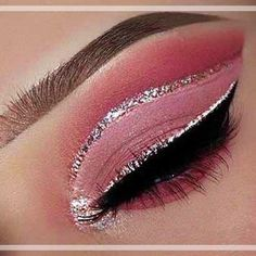 Trendy Nails Pink Gold Glitter Make Up Ideas What is Makeup ? What is Makeup ? Rose Gold Makeup, Pink Makeup, Cute Makeup, Glam Makeup, Gorgeous Makeup, Eyeshadow Makeup, Sparkle Makeup, Eyeshadows, Eyeshadow Palette