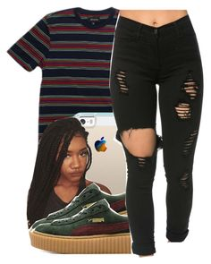 """""""BLOW MY LOAD"""" by queen-vanessa ❤ liked on Polyvore featuring Brixton, Casetify and Puma"""