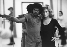 Dalida et Lester Wilson 1980 Paris, France