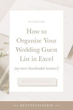There's a reason this wedding guest list template is my most downloaded wedding stationery resource! Find more wedding planning tips in this blog post. Wedding Invitation Wording Examples, Wedding Wording, Wedding Invitation Etiquette, Wedding Planning Timeline, Wedding Etiquette, Classic Wedding Invitations, Wedding Stationery, Wedding Guest List, Wedding Advice