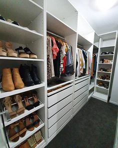 Wardrobe Organisation, Walk In Closet, Shoe Rack, New Homes, House, Home Decor, Decoration Home, Home, Room Decor