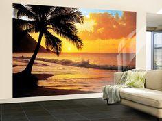 Pacific Sunset Wall Mural Wallpaper Mural at AllPosters.com
