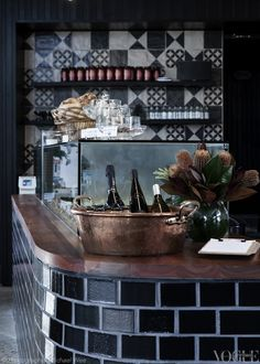 Vestige range featured at Cipro Pizza al Taglio in Sydney's Alexandria. They offer a culinary update on classic by-the-slice dining. Photograph by Michael Wee for Vogue Living.