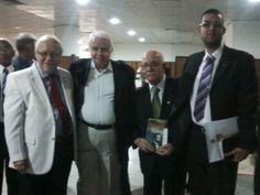 Reverendo Guilhermino Cunha (meu pastor), Dr. Andrade, Reverendo Isaías de Souza Maciel e eu.