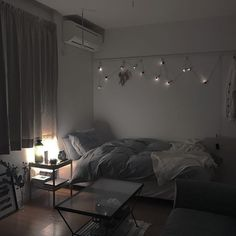 One room apartment, aesthetic rooms, small room bedroom, cozy room, bed Room Ideas Bedroom, Small Room Bedroom, Small Rooms, Home Bedroom, Bedroom Decor, Design Bedroom, Bed Room, Small Spaces, Dream Rooms