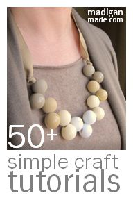 Check out all of these simple and easy craft ideas.  So many projects that anyone can make!