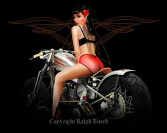 PIN UP GIRL FRIDAY « What's Hot with Bobber and Chopper Motorcycles