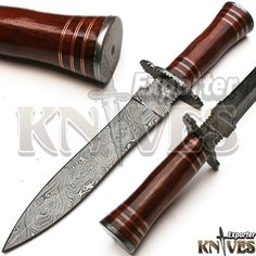 Custom Damascus Steel Smith Made Dagger Knife, Wooden Handle by Knives Exporter #KnivesExporter
