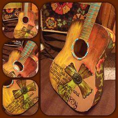 Decorative gypsy guitar