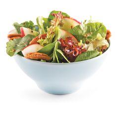 Salade pomme et noix - Les recettes de Caty Entrees, Serving Bowls, Cabbage, Vegetables, Tableware, Salade Caprese, Kitchen, Chop Suey, Ajouter