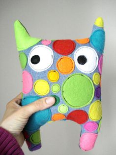 Softie Plush Doll Colorful   Monster   Stuffed   by cronopia6, $24.00