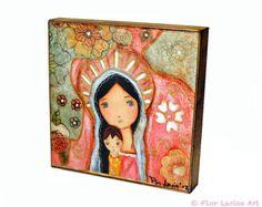 Nativity Star II Giclee print mounted on Wood 4 x por FlorLarios