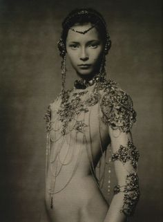 The Poetic Spirit. Tiiu Kuik in Jean Paul Gaultier Fall 2003 haute couture, photographed by Paolo Roversi, for Vogue Italia, September 2003.