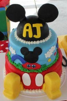 Mickey Clubhouse Cake (AJ)
