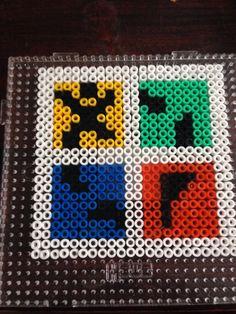 Geocaching logo in perler beads