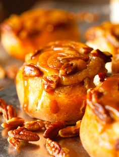 Sticky Buns made with Caramel, Pecans, and Cinnamon Butter. Completely made from scratch and completely delicious!