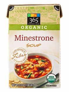 FITNESS Healthy Food Awards: The Best Soups - from the Grocery Store - 365 Everyday Value Organic Minestrone Soup