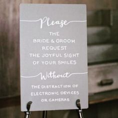 13 Unplugged Wedding Signs To Remind Guests To Stay In The Moment Wedding Signage, Wedding Vows, Our Wedding Day, Trendy Wedding, Dream Wedding, Wedding Stuff, Wedding Things, Fall Wedding, Wedding List