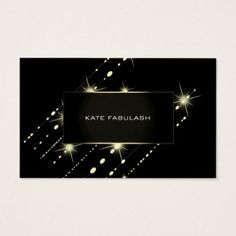 Gold Sparkly Crystal Diamond Event Planner Beauty Business Card - stylist business card business cards cyo stylists customize personalize