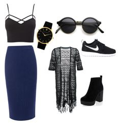 """""""Unbenannt #1"""" by nataschaschaack ❤ liked on Polyvore featuring C/MEO COLLECTIVE, Charlotte Russe, Guild Prime, New Look, NIKE, Larsson & Jennings and plus size clothing"""