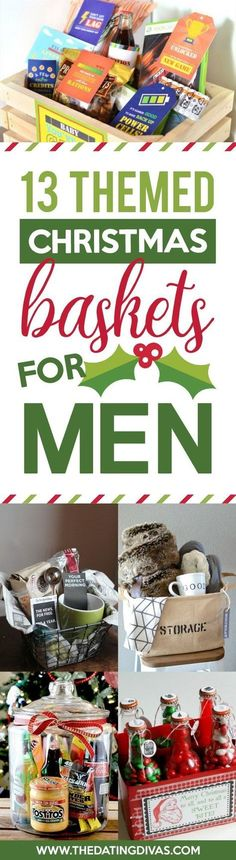 Christmas Gift Baskets for Men #giftbaskets