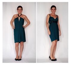 How to make a dress from scratch in 15 mins! Looks easy enough to do and there is a link at the bottom of the post that shows how you can wear it 7 different ways.