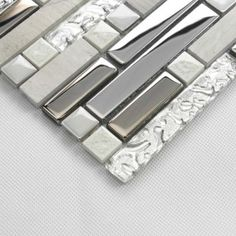grey glass tile backsplash - Google Search