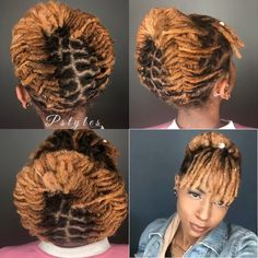 black women's hairstyles with braids Short Dread Styles, Dreads Styles For Women, Short Dreadlocks Styles, Short Locs Hairstyles, Hairdos For Short Hair, Dreadlock Styles, Short Hair Cuts, Curly Hair Styles, Hairstyles 2018
