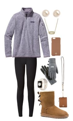 """""""Colorado"""" by gracerickman on Polyvore featuring lululemon, Patagonia, UGG Australia, Kendra Scott, Juliet & Company and The North Face"""