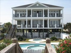 wallace garden city beach rental bedrooms 6 baths 6 full accommodates 16 oceanfront 1303 south waccamaw drive ocean front south - Garden City Beach Rentals
