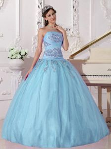 e01211a0656 Apple Green Ball Gown Strapless Elegant Taffeta and Tulle Beading  Quinceanera Dress