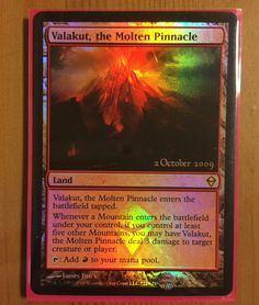 Card of the day! Valakut, the molten pinnacle. Unfortunately my order of bfz boxes has been delayed to monday/tuesday so here is more classic Zendikar!