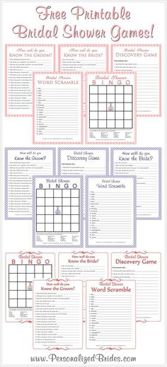 Free printable bridal shower games! Keywords: #printablebridalshowergames #freebridalshowergames #jevelweddingplanning Follow Us: http://www.jevelweddingplanning.com http://www.facebook.com/jevelweddingplanning/
