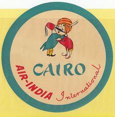 AIR-INDIA CAIRO INTERNATIONAL BAGGAGE LABEL